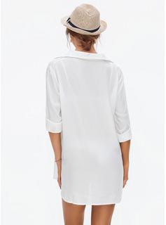 Cover-up Bawełna Jednolity kolor Dla kobiet Nie Stroje kąpielowe