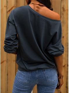 Print One-Shoulder Lange ærmer Sweatshirts