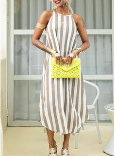 Striped Shift Sleeveless Maxi Casual Vacation Tank Dresses