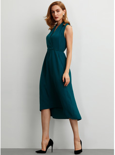 Szyfon Z Jednolity Asymetryczny Sukienka