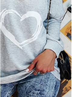 Stampa Spalle esposte Maniche lunghe Casuale Sexy Camicie