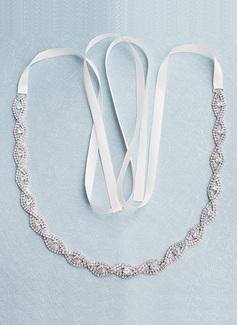 Maravilloso/Exquisito Satén Fajas con Diamantes de imitación