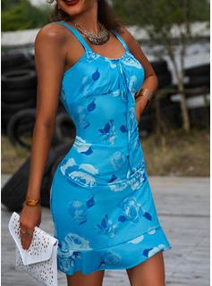 Print Bodycon Sleeveless Mini Casual Sexy Vacation Tank Dresses