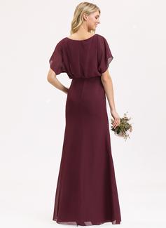 Escote redondo Cabernet Gasa Vestidos de moda