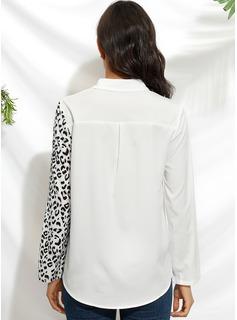 leopardo Risvolto Maniche lunghe Casuale Shirt and Blouses