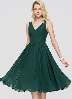 V шеи Коктейльные Платье