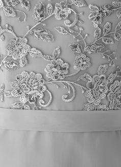 Forme Sirène/Trompette Seule-épaule Balayage/Pinceau train Mousseline Robe de demoiselle d'honneur