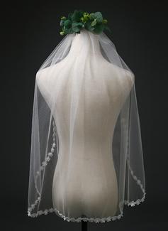 1 couche Voile de mariée longueur coude
