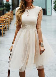A-linjeklänning 3/4 ärmar Midi Modeklänningar