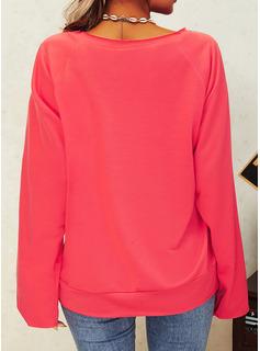 Figura Stampa Girocollo Maniche lunghe Casuale Reggiseno Tshirt