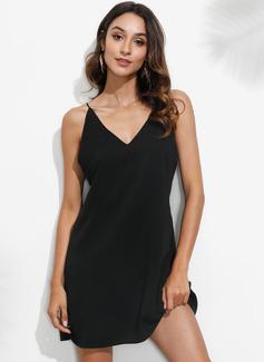 Vestidos sueltos Tirantes espagueti poliéster Vestidos de moda
