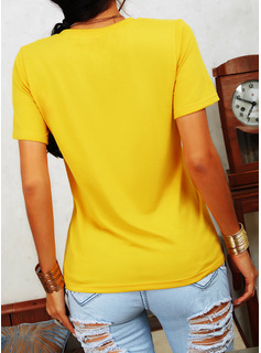 ヒョウ 印刷 ラウンドネック 半袖 カジュアル Tシャツ