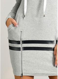 印刷 シースドレス 長袖 ミニ カジュアル トレーナー ファッションドレス
