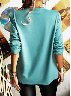 Animal Print V-Neck Long Sleeves Button Up Casual Blouses