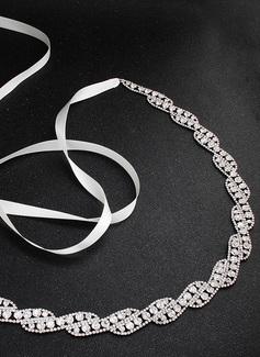 Único/Estilo clásico Satén Fajas con Aleación/Diamantes de imitación