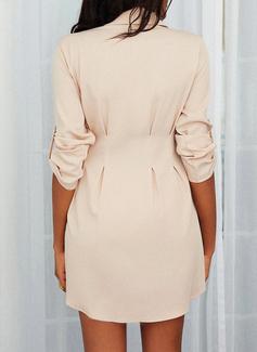 印刷 シースドレス 1/2袖 ミニ カジュアル シャツワンピース ファッションドレス