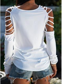 Stampa Spalle esposte Maniche lunghe Casuale Camicie