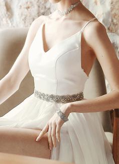 Hermoso/Con estilo/Exquisito Satén Fajas con Diamantes de imitación