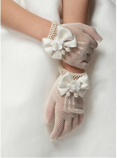 Lace Wrist Length Flower Girl Gloves