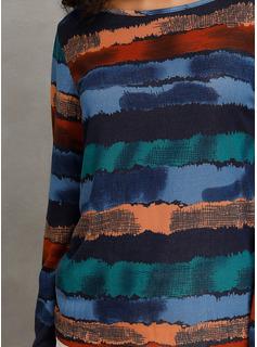 Lange ærmer Polyester rund hals Bluser