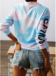 Animalske Udskriv Lapel Lange ærmer Sweatshirts