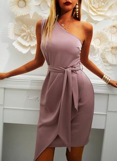Solid Åtsittande Ärmlös Mini Party Modeklänningar