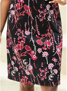 Blomster Print Kjole med A-linje Ærmeløs Mini Casual Typen Mode kjoler