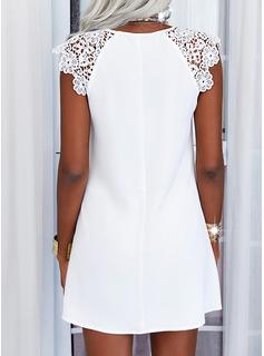 Solid Shift Mini Casual Dresses
