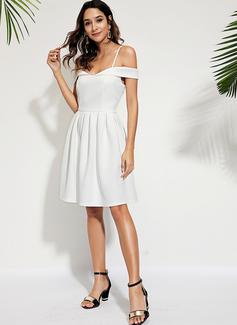 A-line Off the Shoulder Polyester Dresses