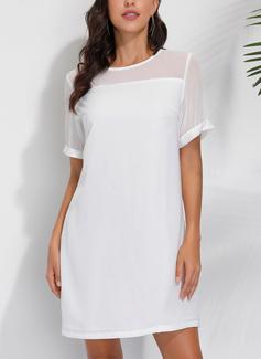 Round Neck Polyester Dresses