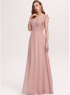 A-line Short Sleeves Maxi Glamorous Romantic Sexy Dresses