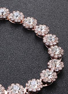 Hermoso/Exquisito Satén Fajas con Diamantes de imitación