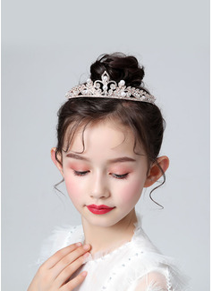 Dziewczynka Sypiąca Kwiaty Stop Tiaras Z Cyrkonie