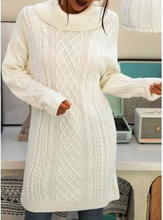 Solido Maniche lunghe Casuale Vestiti di moda