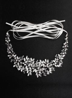 Maravilloso/Único Satén Fajas con Crystal/Diamantes de imitación