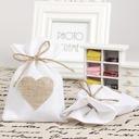 Heart style Handbag shaped Linen Favor Bags (Set of 12)