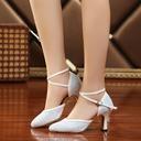 Femmes Pailletes scintillantes Talons Sandales Salle de bal Swing avec Ouvertes Chaussures de danse