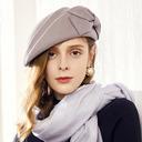 Ladies ' Wzrok/Nicea/Uroczy/Romantyczny Wełna Beret Hat