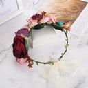 Vakkert Silke blomst/Simulering Rattan Pannebånd