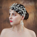 Señoras Elegante Rhinestone/cobre Diademas (Se venden en una sola pieza)
