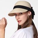 Ladies ' Prosty/Fantazyjny Papirus Z Kokarda Słomiany kapelusz/Plaża / niedz Kapelusze