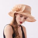 Señoras' Elegante/Fantasía Hilado de la red/Encaje/Gasa con Flor Sombreros Playa / Sol/Derby Kentucky Sombreros/Sombreros Tea Party