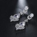 Ladies' Elegant Zircon Cubic Zirconia Earrings For Bride/For Bridesmaid/For Mother