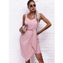 Sólido Cubierta Sin mangas Mini Elegante Tipo Vestidos de moda (294258109)