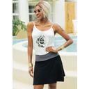 Floral Print Sheath Sleeveless Mini Casual Vacation Tank Dresses (294253300)