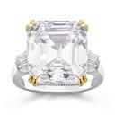 Sterling zilver Zirconia Halo Stokbrood Gesneden Verlovings ringen Belofte ringen