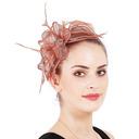 Señoras' Glamorosa/Elegante Batista con Pluma/Rhinestone Tocados/Derby Kentucky Sombreros
