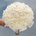 Redondo Satén Ramos de novia (vendido en una sola pieza) - Ramos de novia