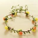 Lovely Single Flower Round Cloth Headdress Flower -