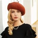 Ladies ' Uroczy/Romantyczny/Zabytkowe Wełna Beret Hat